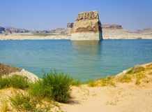 Lone Rock in Lake Powell, Page, Arizona Stock Images