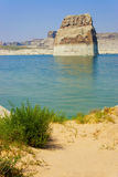 Lone Rock in Lake Powell, Page, Arizona Stock Photography