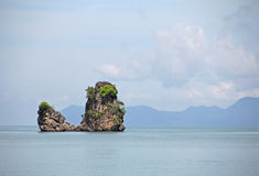 Lone rock at the sea Royalty Free Stock Image
