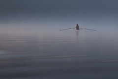 Lone Rower Stock Photography