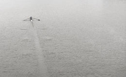 Lone Rower on River Stock Photography