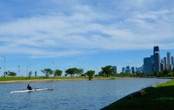 A Lone Rower Royalty Free Stock Photography