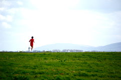 A lone runner Royalty Free Stock Images