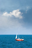 A lone sailboat Royalty Free Stock Photography