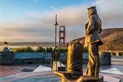 Lone Sailor Memorial Statue, Sausalito, CA Royalty Free Stock Image