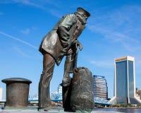 Lone Sailor Statue, Jacksonville, FL. Royalty Free Stock Photos