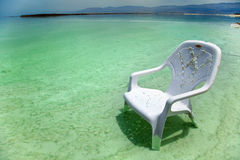 Easy Chair at the Dead Sea Royalty Free Stock Images