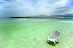 Easy Chair at the Dead Sea Stock Image
