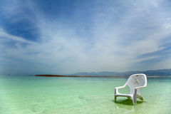 Easy Chair at the Dead Sea Stock Photography