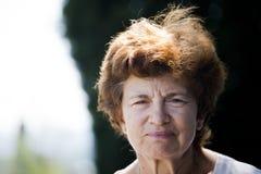Lone senior woman stock photography