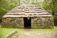 Lone sheiling shepherds hut Stock Photography