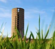 lone silo för bakgrund Arkivbilder