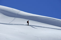 Lone skier off trail Stock Photography