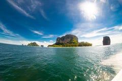 Lone a small rocky island at Krabi and Phuket Royalty Free Stock Photography