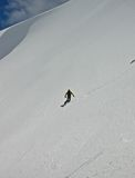 snowboarder getting first lines Royalty Free Stock Image