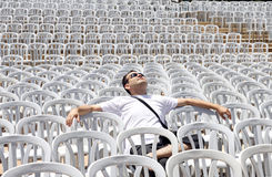 Lone spectator Stock Photos