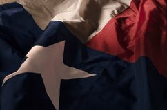 Lone Star. Close up of the Texas state flag filling the entire frame with the red white and blue fields and single star Royalty Free Stock Images