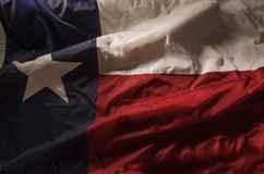 Lone Star. Close up of the Texas state flag filling the entire frame with the red white and blue fields and single star Stock Photo