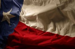 The Lone Star. The Texas flag in vintage lighting Royalty Free Stock Images