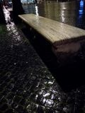 Lone stone bench royalty free stock images