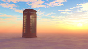 Lone Telephone Box Royalty Free Stock Photography