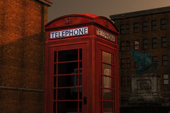 Lone Telephone Box Royalty Free Stock Image