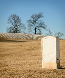 Lone tombstone. Solitary tombstone in Chattanooga National Cemetery Royalty Free Stock Image