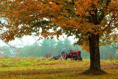 Lone Tractor- Poland Maine - Oct, 2014 - By Eric L. Johnson Photography Stock Image