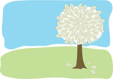 A Lone Tree. A very simple illustration of a tree Royalty Free Stock Images