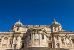 Lone Tree in Roman ruins in Rome in ItalyBasilica di Santa Maria Maggiore in Rome Royalty Free Stock Images