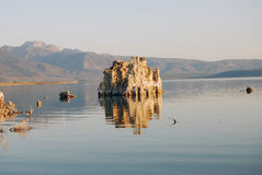 Lone Tufa Tower. This is one of the more prominent towers that rise up from Mono Lake Stock Photos