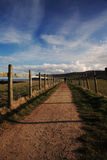 Lone walker on the North Yorkshire Coastal Path Royalty Free Stock Photos