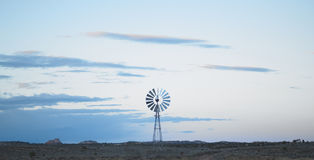 Lone Windmill at Dusk Royalty Free Stock Image