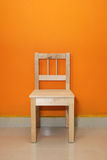 Lone Wooden Chair Stock Photography