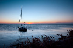 Lone yacht Stock Images