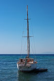 Lone Yacht Stock Image