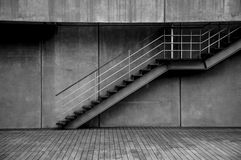 Loneliness. The area shown in the figure was quiet and lonely. I wanted to show that in the photo. Stairs and space in front of them, seem to me quietly Stock Image