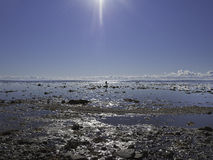 Beach at low tide Royalty Free Stock Photo