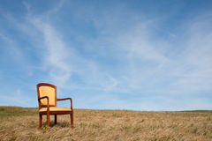 Loneliness chair Royalty Free Stock Images