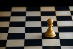 Loneliness. Chess. Royalty Free Stock Photography