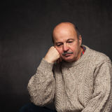 Loneliness and depression in elderly. Royalty Free Stock Images