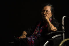 Loneliness elder woman Royalty Free Stock Image