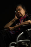 Loneliness elder woman Royalty Free Stock Photos