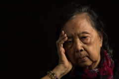 Loneliness elder woman Stock Images