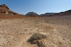 Loneliness and emptiness of the Middle East. Royalty Free Stock Image
