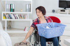 Loneliness and handicap not issues when you love life Stock Photo