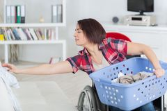 Loneliness and handicap not issues when you love life stock photos