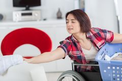 Loneliness and handicap not issues when you love life Stock Image