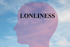 Loneliness - mental concept Stock Image
