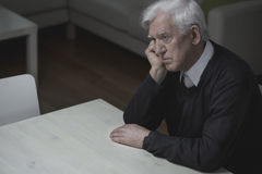 Loneliness in old age Royalty Free Stock Image
